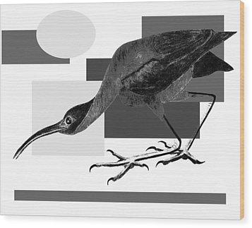 Shadow Dancing Wood Print by Tess M J Iroldi