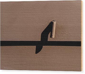 Wood Print featuring the photograph Shadow Handle by Britt Runyon
