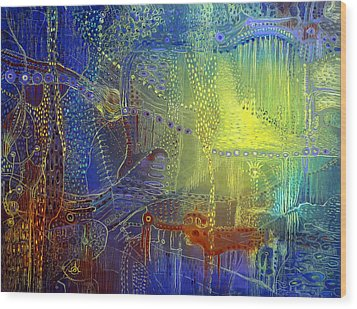 Shadow Of The Dream IIi Wood Print by Lolita Bronzini