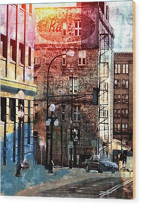 Shadow On St. Paul Wood Print by Susan Stone