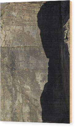 Shadow On The Stone Wood Print