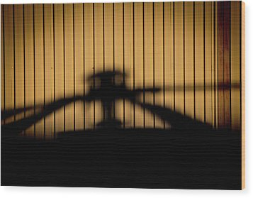 Wood Print featuring the photograph Shadow Rotor by Paul Job