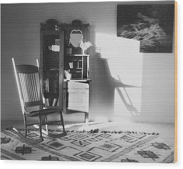 Shadow Time Wood Print