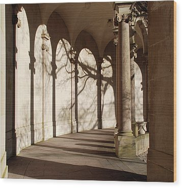 Wood Print featuring the photograph Shadows And Curves by Richard Bryce and Family