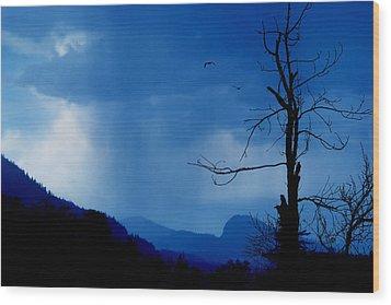 Shadows In The Rain  Wood Print by John Poon