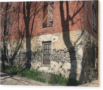 Wood Print featuring the photograph Shadows On A Brandywine Wall by Don Struke