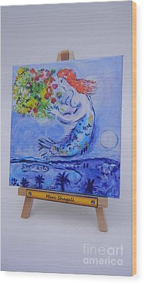 Chagall's Mermaid Wood Print