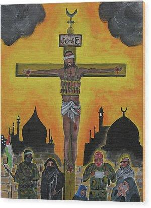 Shahid Or Martyr Wood Print by Darren Stein