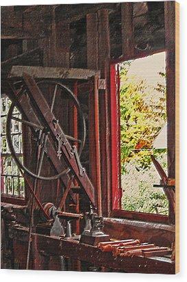 Shakers Woodshop Wood Print by Steve Ohlsen