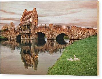 Shakespeare Bridge Wood Print by Iryna Goodall