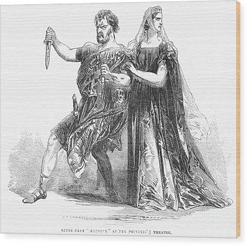 Shakespeare: Macbeth, 1845 Wood Print by Granger