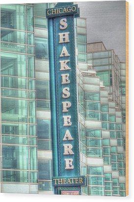 Shakespeare Theater Wood Print