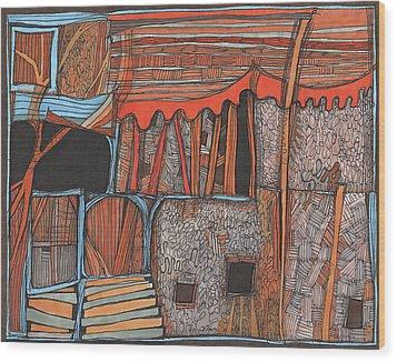 Shaky Place Wood Print by Sandra Church