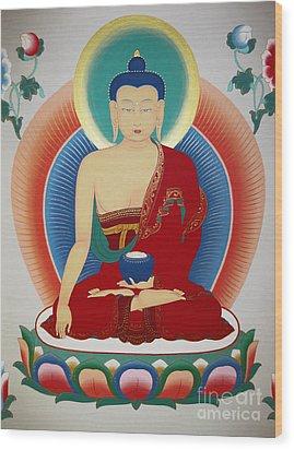 Shakyamuni Buddha  Wood Print