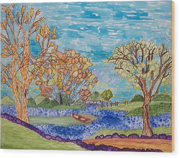 Shall We Go For A Summer Walk Wood Print by Connie Valasco