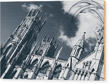 Wood Print featuring the photograph Shame To Be Atheist  by Stewart Scott