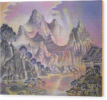 Shangri La Wood Print