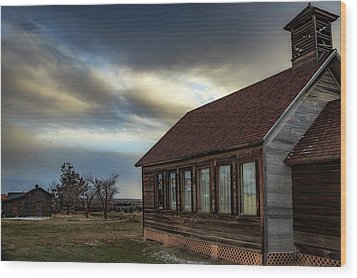 Wood Print featuring the photograph Shaniko Schoolhouse by Cat Connor