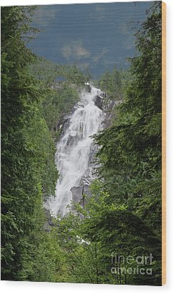 Wood Print featuring the photograph Shannon Falls by Rod Wiens