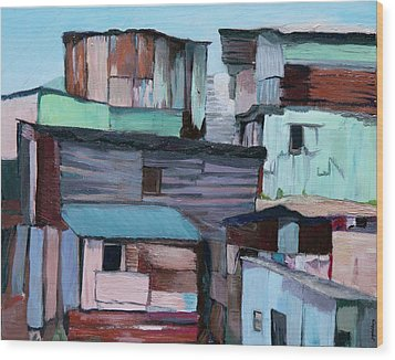 Shanties Wood Print