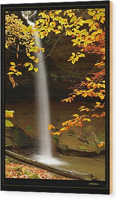 Shanty Hollow Falls Wood Print by Keith Bridgman