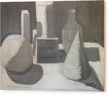 Shapes In Light And Shadow Wood Print by Joshua Maddison
