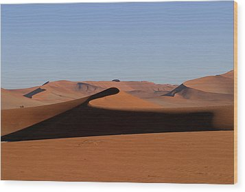 Wood Print featuring the photograph Shapes Of The Dunes by Riana Van Staden