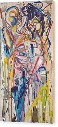Shards Wood Print by Sheridan Furrer