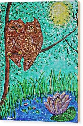 Shared Moonlight Wood Print