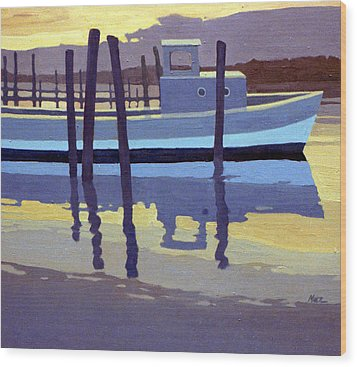 Shark River Lobster Boat Wood Print by Donald Maier