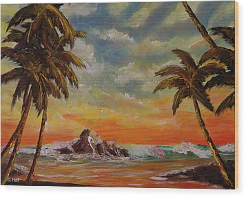 Sharks Cove North Shore Oahu #394 Wood Print by Donald k Hall