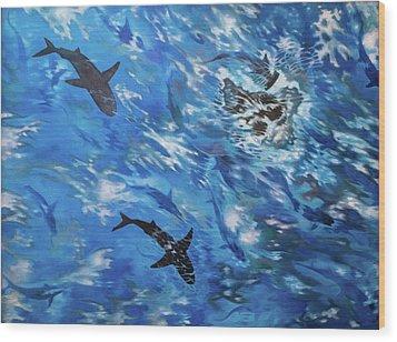 Sharks#3 Wood Print