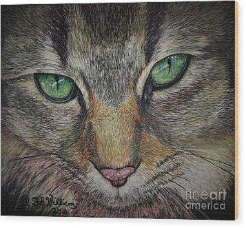 Sharna Eyes Wood Print