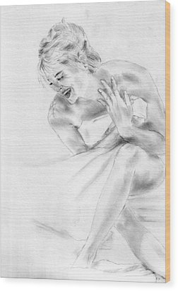Sharon Stone Wood Print by Jessica Rose