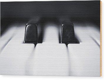 Sharp Or Flat Wood Print by Scott Norris