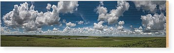 Sharps Creek Road Panorama Wood Print