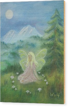 Shasta Fairy Wood Print