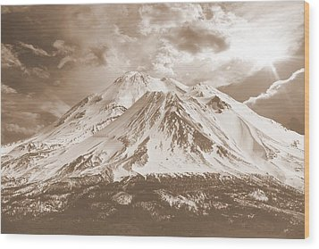 Wood Print featuring the photograph Shasta Mt by Athala Carole Bruckner