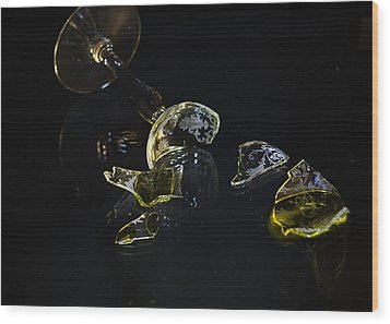 Wood Print featuring the photograph Shattered Illusions by Susan Capuano