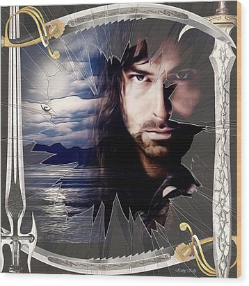 Shattered Kili With Swords Wood Print