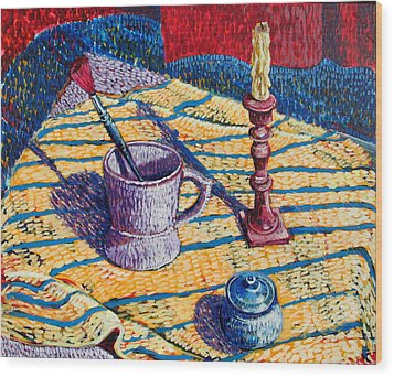 Shaving Mug Wood Print by Rollin Kocsis