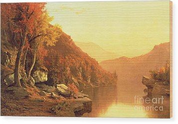 Shawanagunk Mountains Wood Print by Jervis McEntee