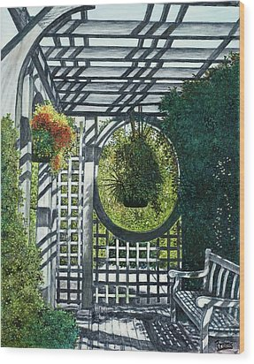 Wood Print featuring the painting Shaw's Garden Place Of Solitude by Michael Frank
