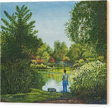 Wood Print featuring the painting Shaw's Garden's Admirer by Michael Frank