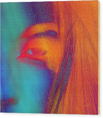 She Awakes Wood Print