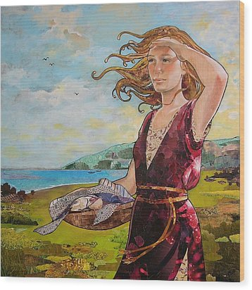 She Baked The Loaves And Dried The Fishes Wood Print by Robin Birrell