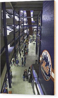 Shea Stadium Walkways Wood Print