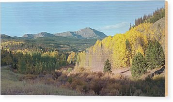 Wood Print featuring the photograph Sheep Mtn In Flat Tops by Daniel Hebard