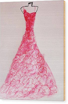 Sheer Twirls In Pink Wood Print by Trilby Cole