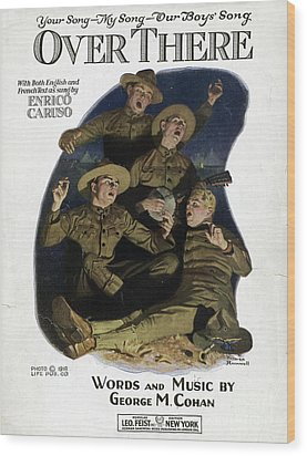 Sheet Music Cover, 1918 Wood Print by Granger